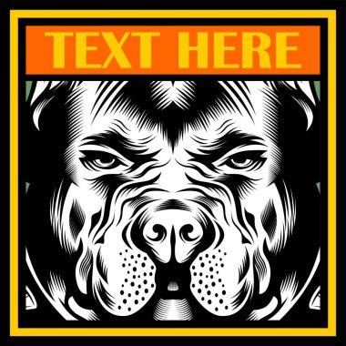 Mean Bulldog Mascot Illustration vector