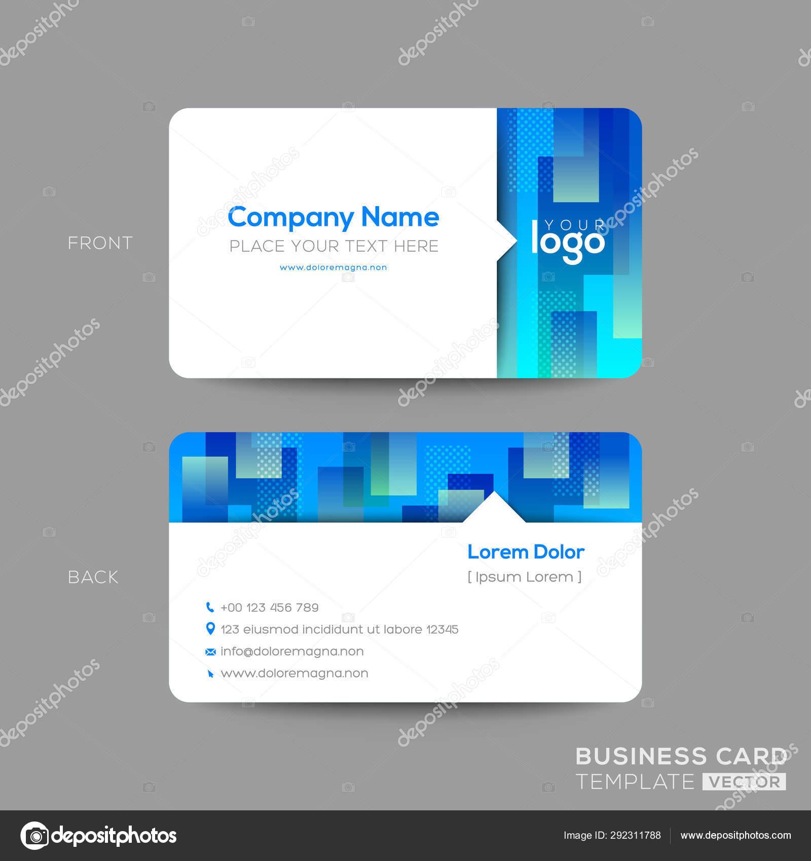 Blue business card, membership card, VIP club card template with Within Template For Membership Cards