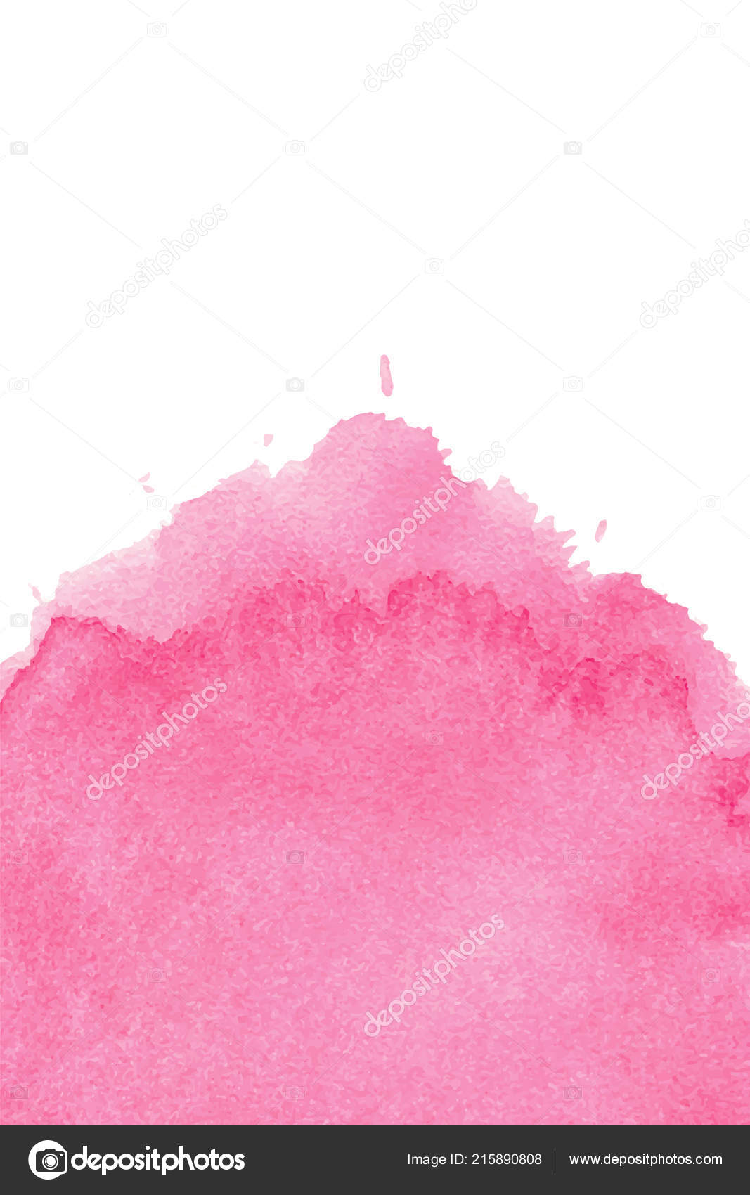 pink abstract watercolor background space text editable template