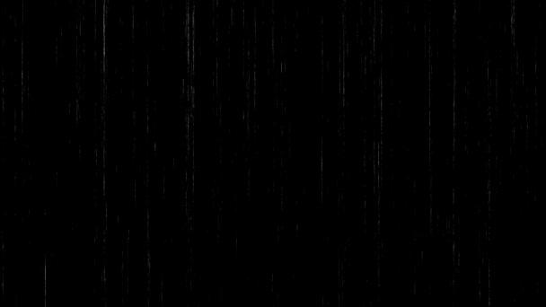Absztrakt fehér részecskék Motion a Parallax hatása fekete háttér. Mozgó por. Digitális generált animáció.