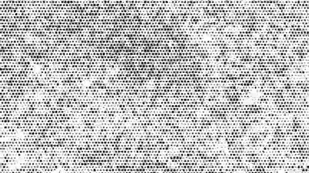 Fekete pöttyös zaj Motion fehér háttér. Villogásmentes por. Félárnyék textúra effektusok. Hurok egyedi tervezés absztrakt digitális animáció.