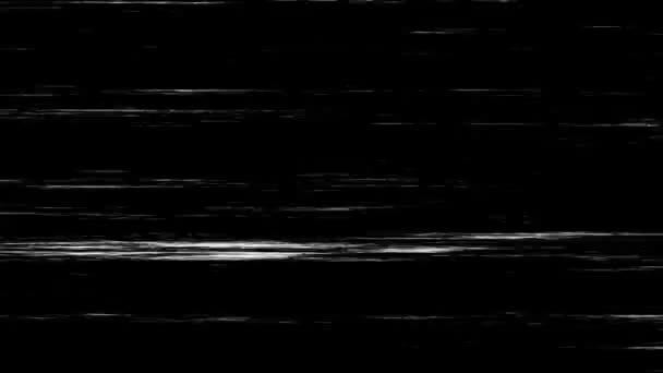Fehér karcolások a fekete háttéren. Hibás videokárosodás. Vhs Zajfelvétel. Törött analóg Vintage TV hatás.
