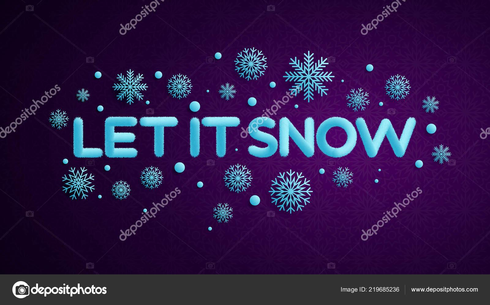 Letters Met Licht : Laat het sneeuwen licht blauwe letters met een teksteffect bont