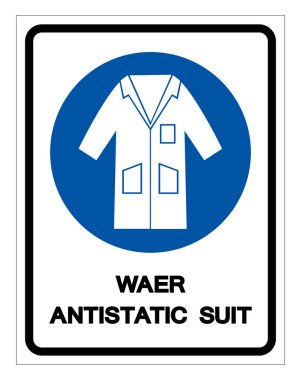 Wear Antistatic Suit Symbol Sign, Vector Illustration, Isolate On White Background Label .EPS10