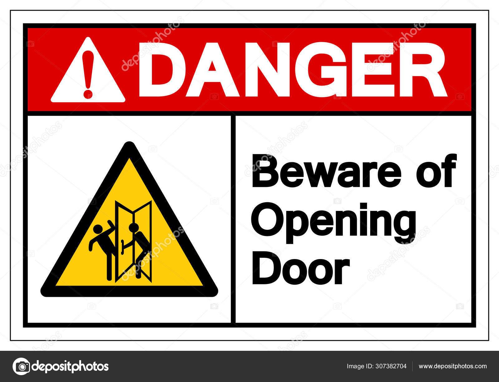 Panneau autocollant de s/écurit/é /«/This door is alarmed for use in emergency only//»150 mm x 50 mm