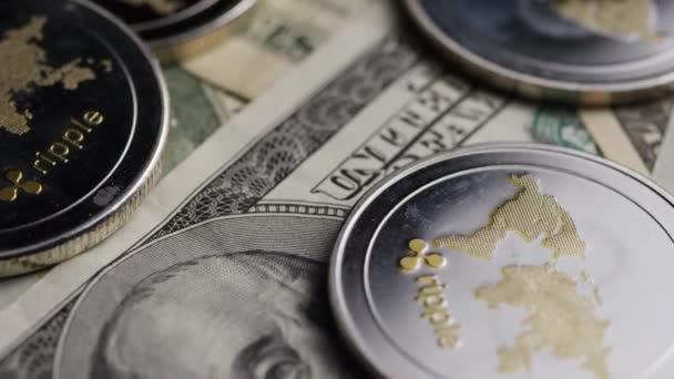 Drehschuss der digitalen Kryptowährung Bitcoins