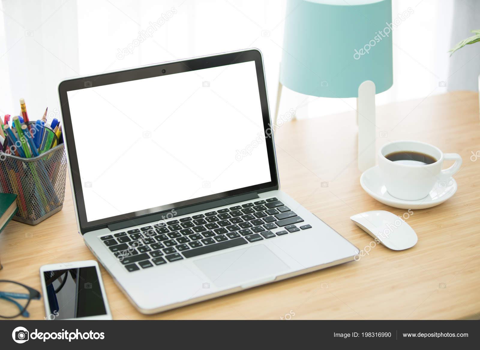 Workspace Background Desktop Office Accessories Table Stock