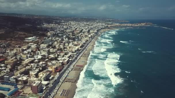 Griechenland, Beton, Rethymno Hafen per Drohne mavic