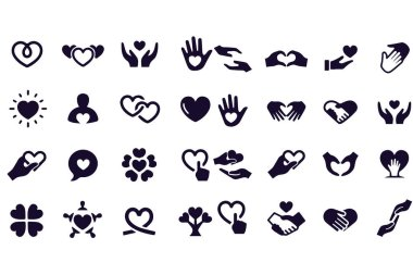 Care and Love Gesture Icons icon