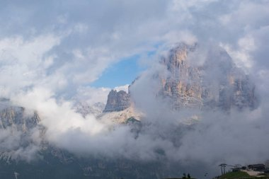clouds on the Dolomites three