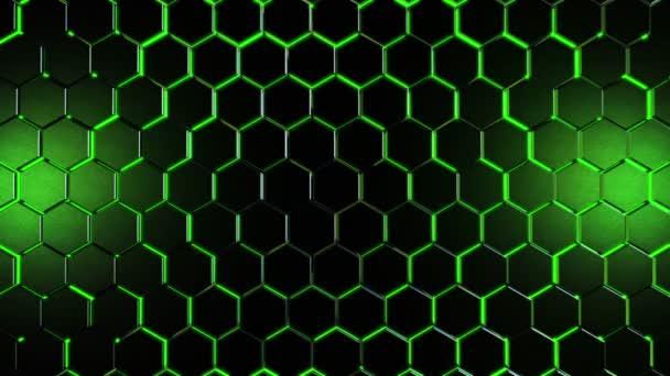 Filmische Sechsecke grün