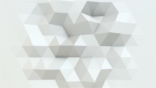 Bewegung weißer Polygone