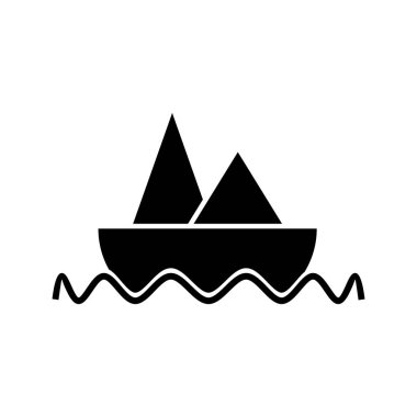 Boat Glyph black icon