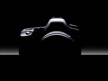 Silhouette of Dslr camera.