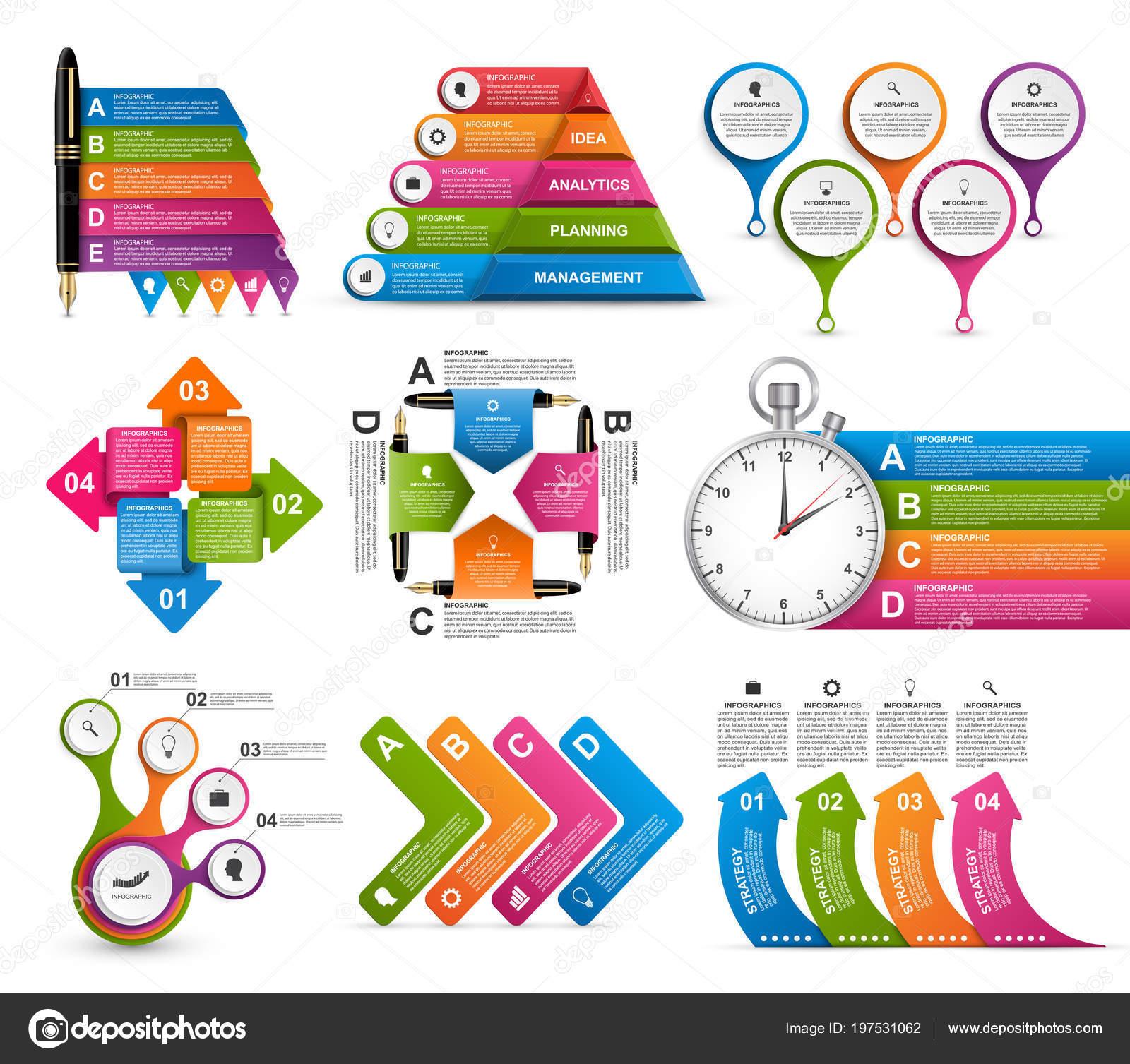 Infografía de colección. Elementos de diseño. Infografías para  presentaciones de negocios o información banner - infografia para descargar  — Vector de ... 2b8024168c5a