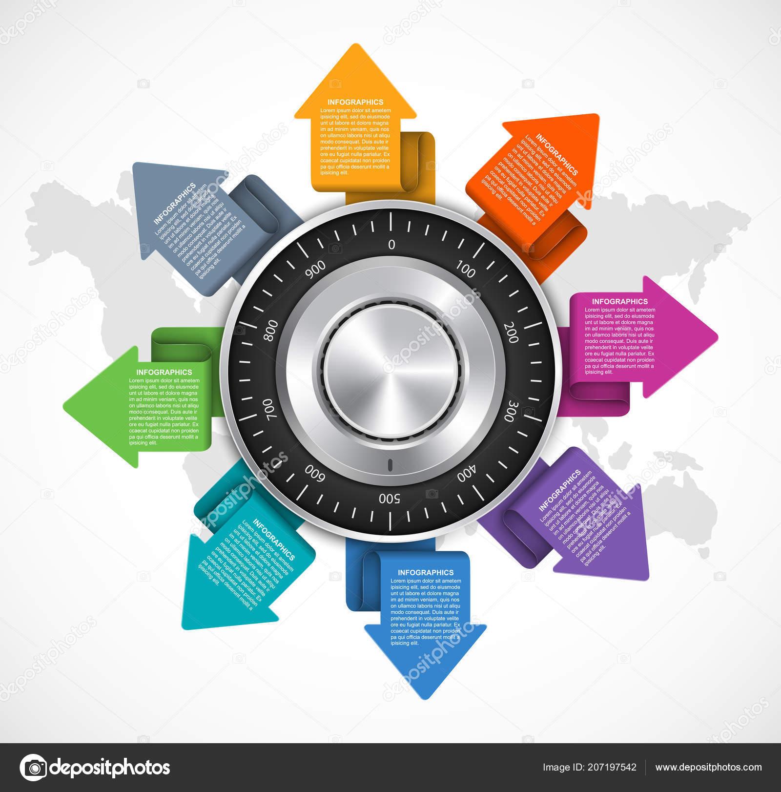 Plantilla Diseño Infografía Protección Datos Concepto Diseño ...