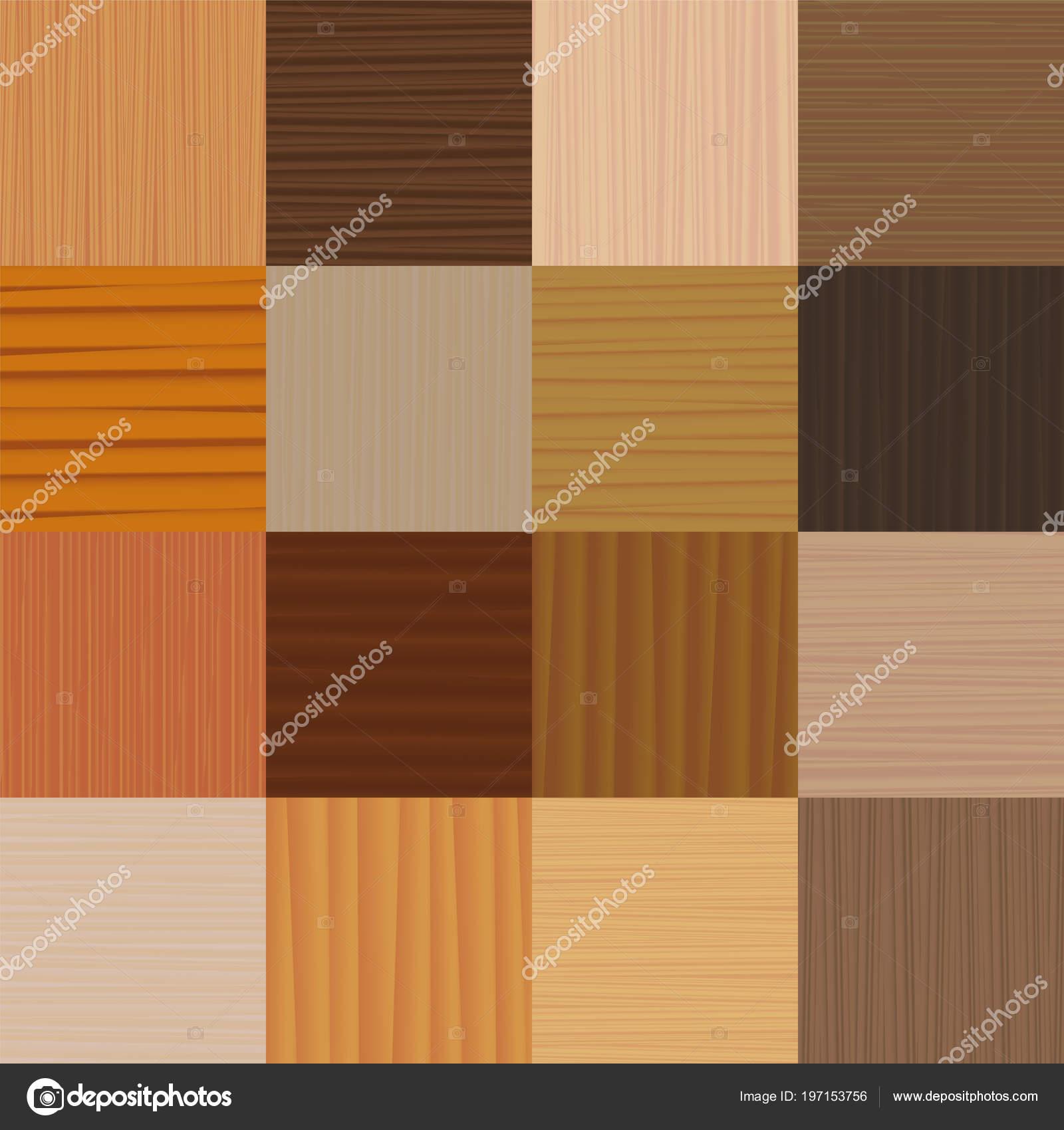 Parkettboden Verschiedene Arten Von Holz Glasuren Texturen Muster Vektor  Illustration U2014 Stockvektor
