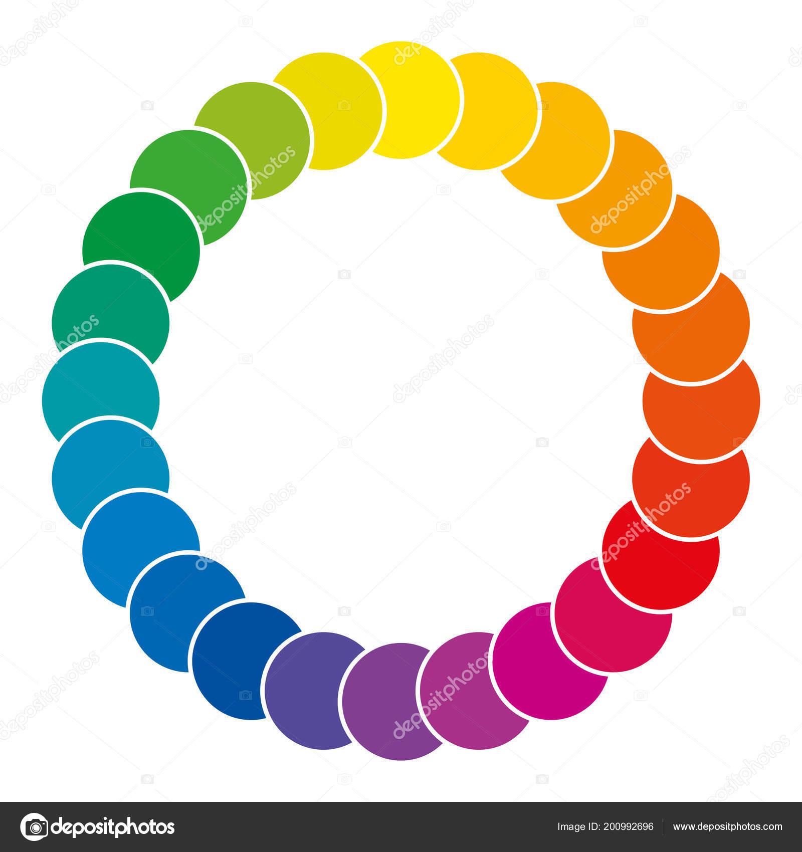 Color Wheel Made Circles Rainbow Colored Circles Showing