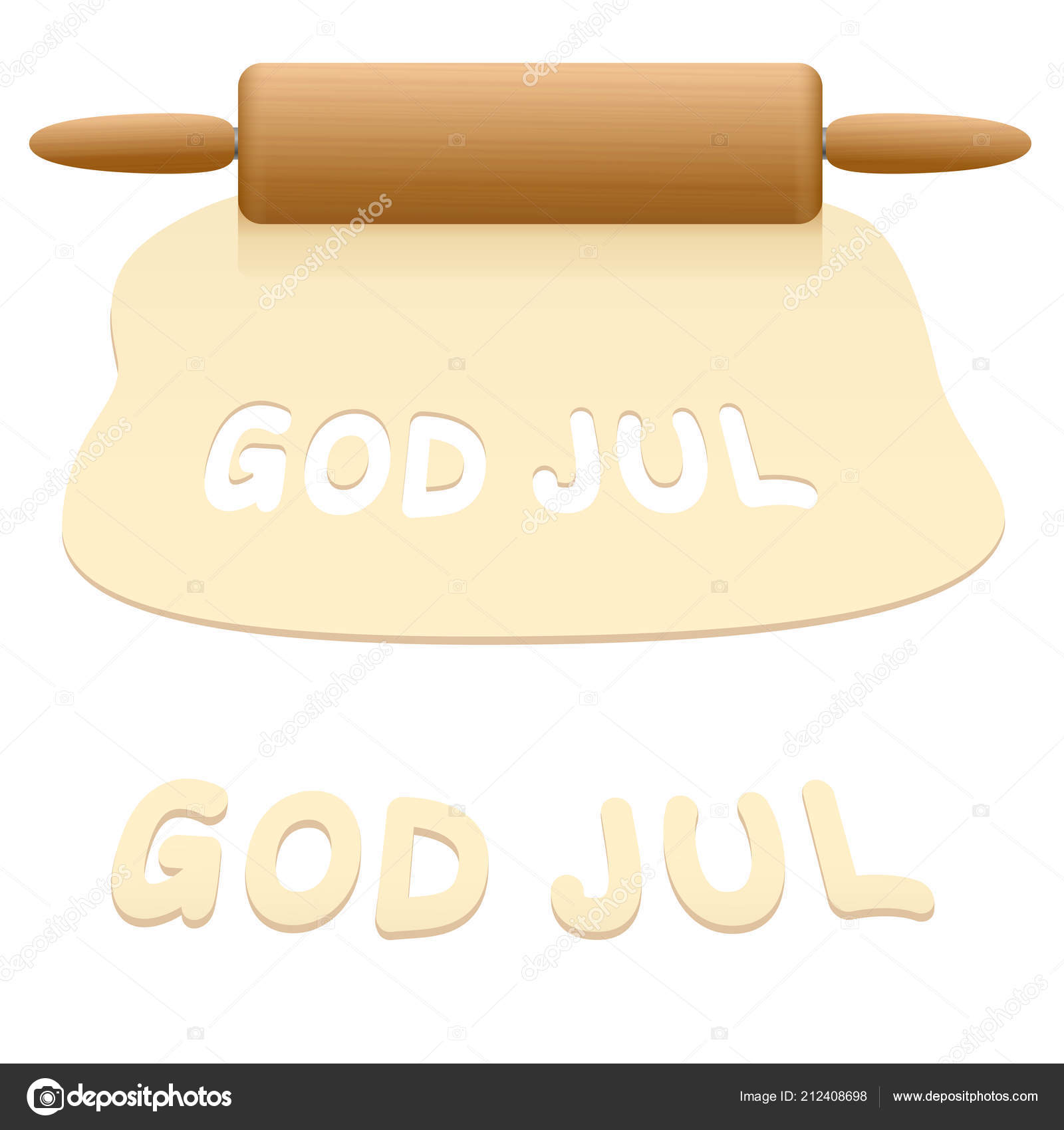 How Do You Say Merry Christmas In Swedish.Merry Christmas Cookies Cut Out Pastry Dough Saying God Jul