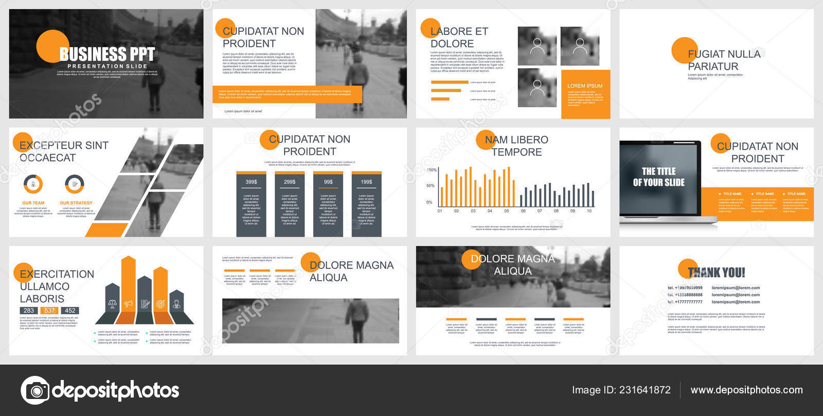 business presentation slides templates infographic elements can used