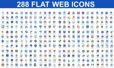 Bundle vector flat icons concept. Contain such Icons as People, Marketing, Security, Business, Education, Commerce, Delivery, Finance and more. UI, UX vector icon. Flat conceptual pictogram pack. icon