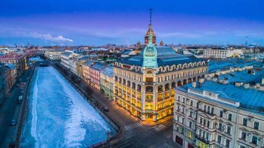 The city of St. Petersburg. Embankment of the river fountain. Cities of Russia. Architecture of St. Petersburg. Morning in Petersburg. Panorama of Russian cities.