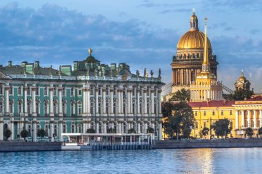 Saint Petersburg. Russia. Saint Isaac's Cathedral. View of the Winter Palace. St. Petersburg from the Neva River. Museums of Russia. Architecture of Petersburg.