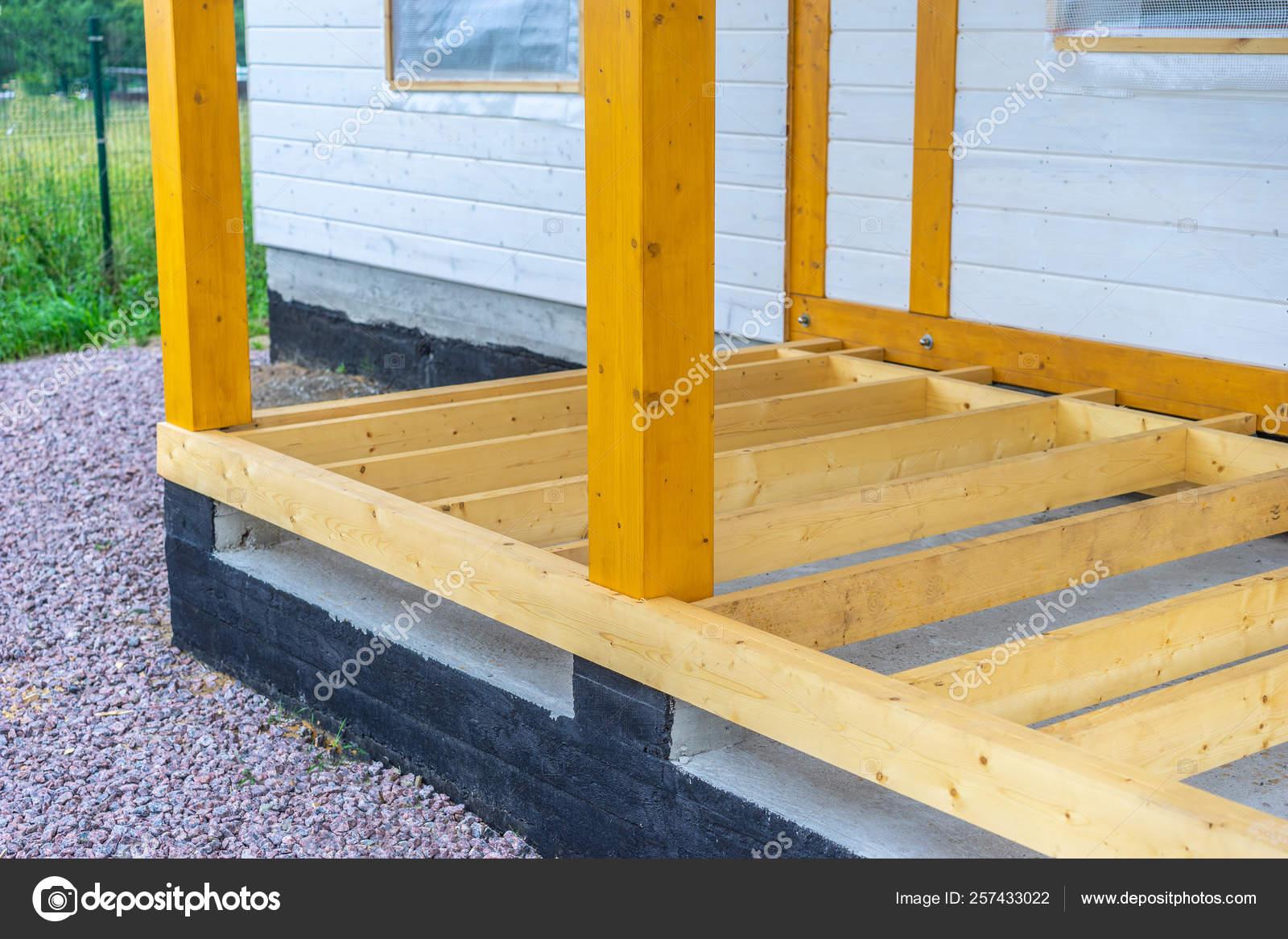 Adición Casa Rejilla Suelo Madera Obras Construcción