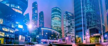 Moscow. Russia. Panorama with high-rise buildings. Business cent