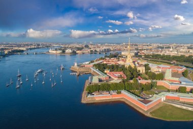 Saint Petersburg. Russia. Panorama view of the Peter and Paul Fo