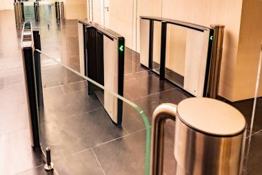 Turnstiles. Checkpoint. Automatic access control. Access system