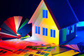 Photo Architectural bureau. Selection of color of the house facade in