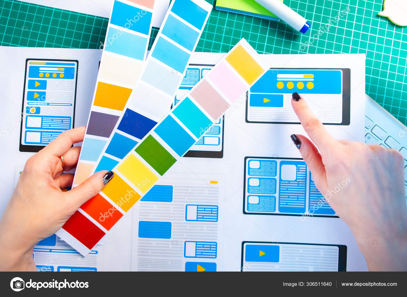 Color Scheme Designer mobile application design development. select the color