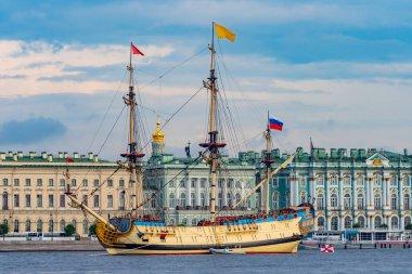 Russia. Saint Petersburg. Sailing boat