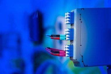The wires are connected to the power supply. Electrical engineering. Electroautomatics. Source of electrical energy. Uninterruptible power supply. Power supply support. Provision of current supply.