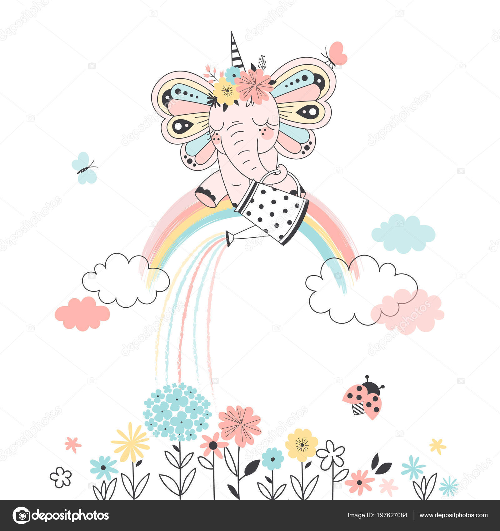 Полить цветы картинка для детей