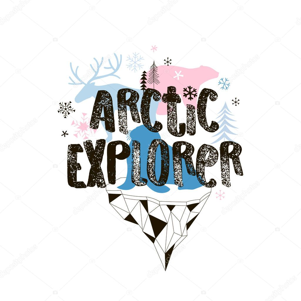 magic Arctic nature poster template