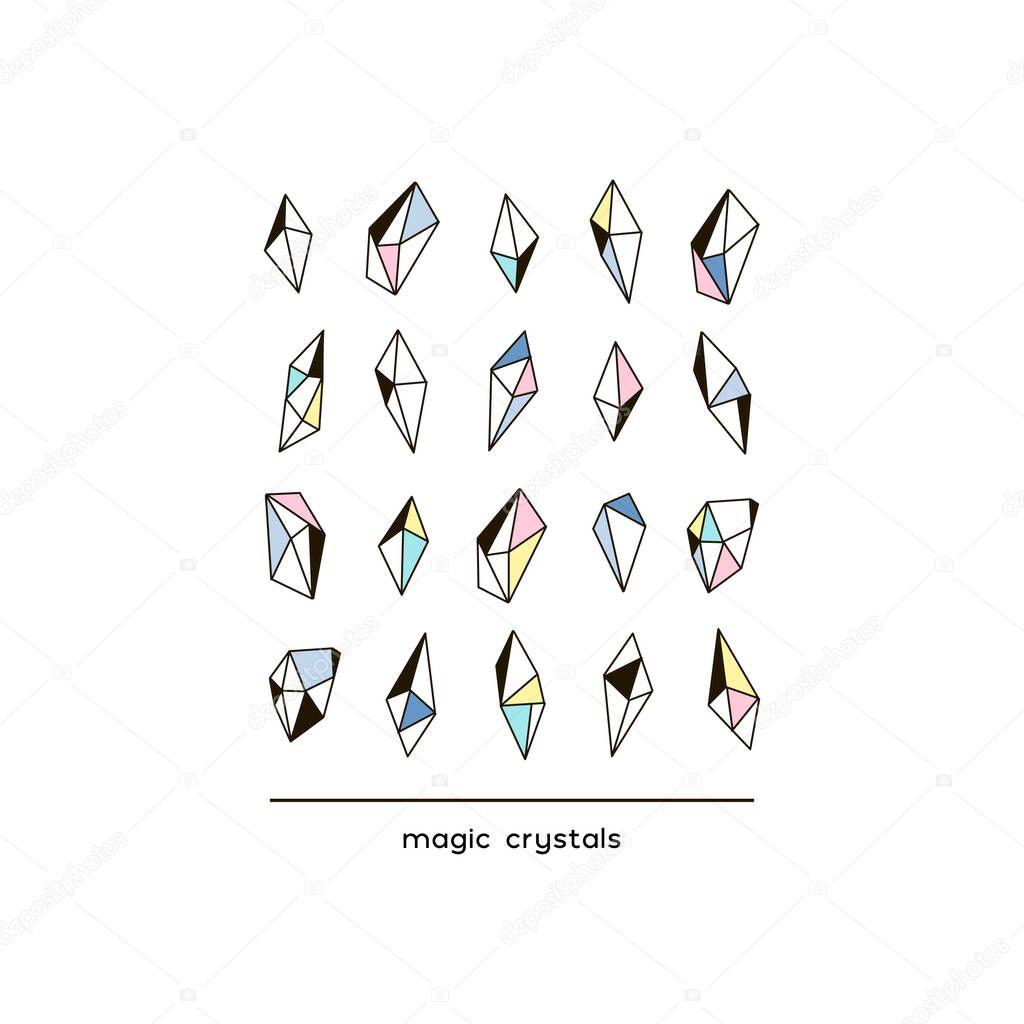 magic Arctic crystals line poster