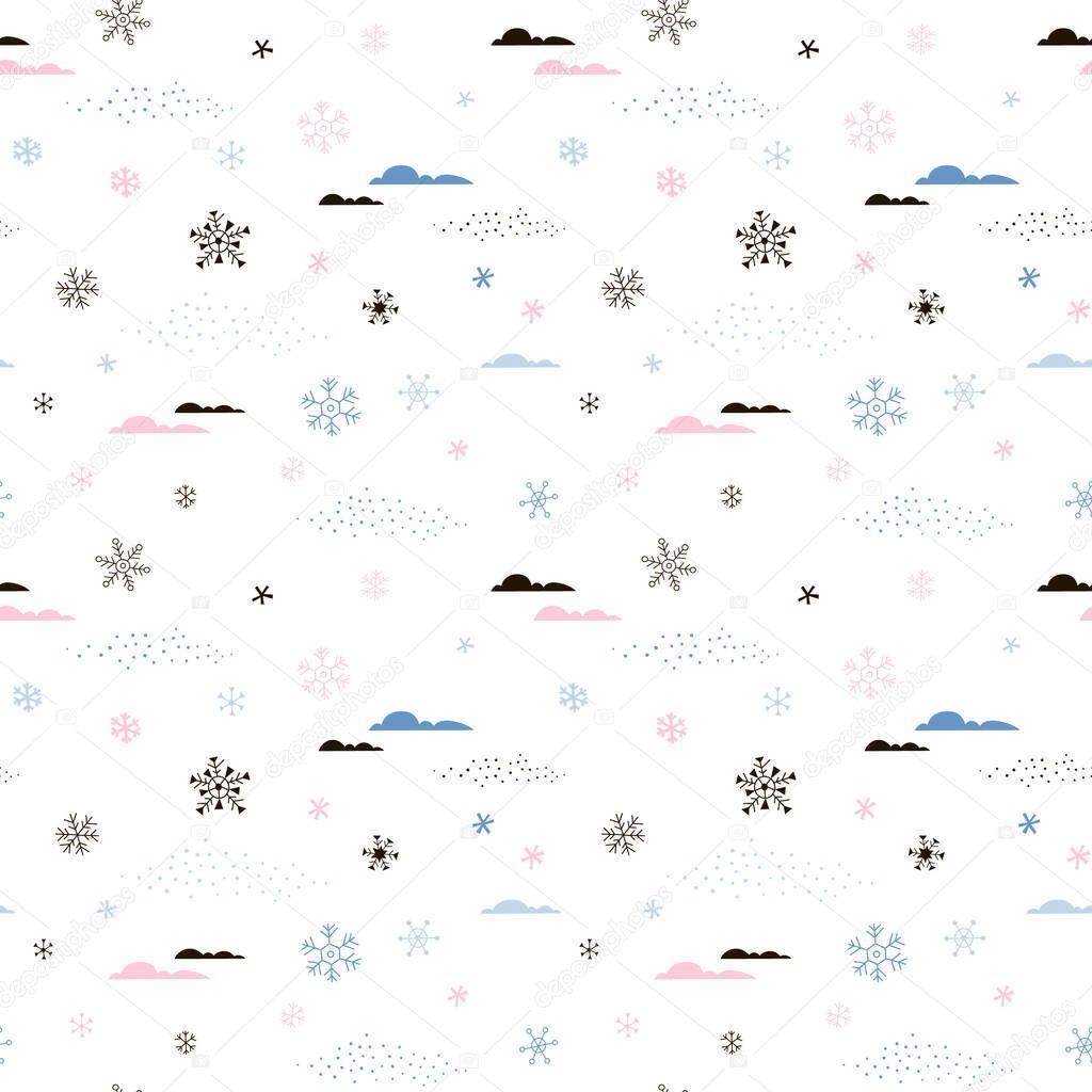 magic Arctic weather seamless pattern