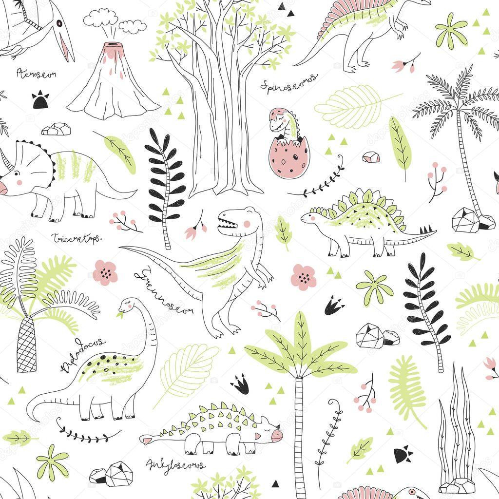 Dino patterns for kids