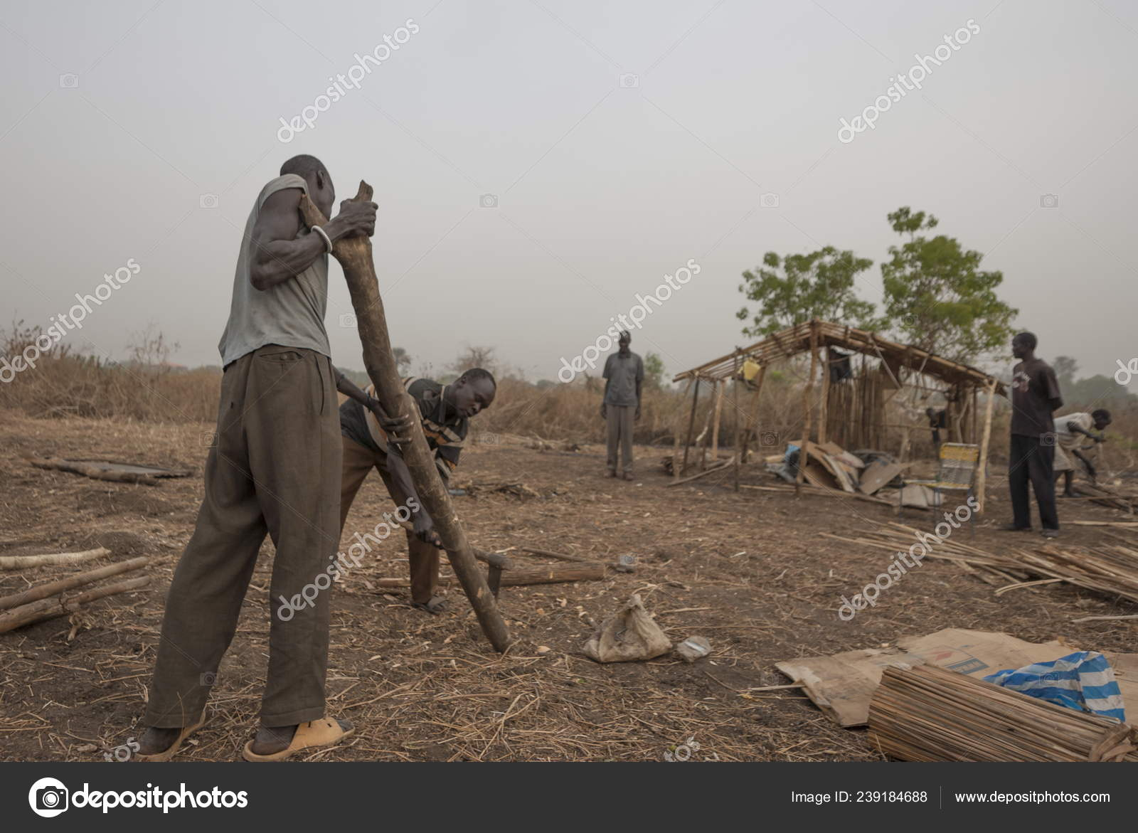 Juba South Sudan February 2012 Unidentified Refugees Prepare