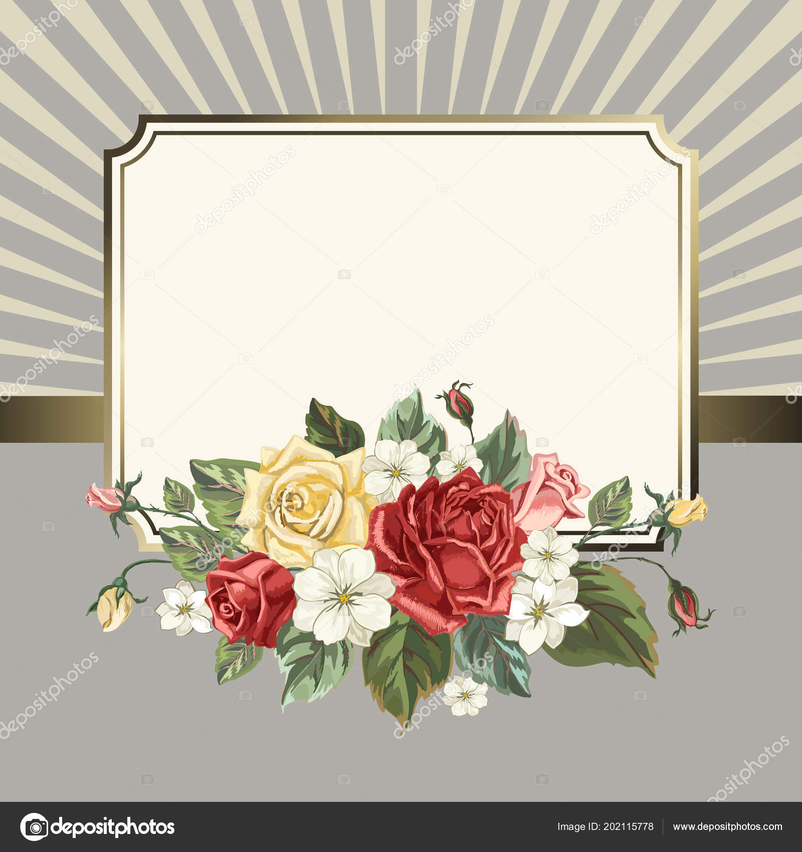 card roses vintage style invitation card flowers wedding day