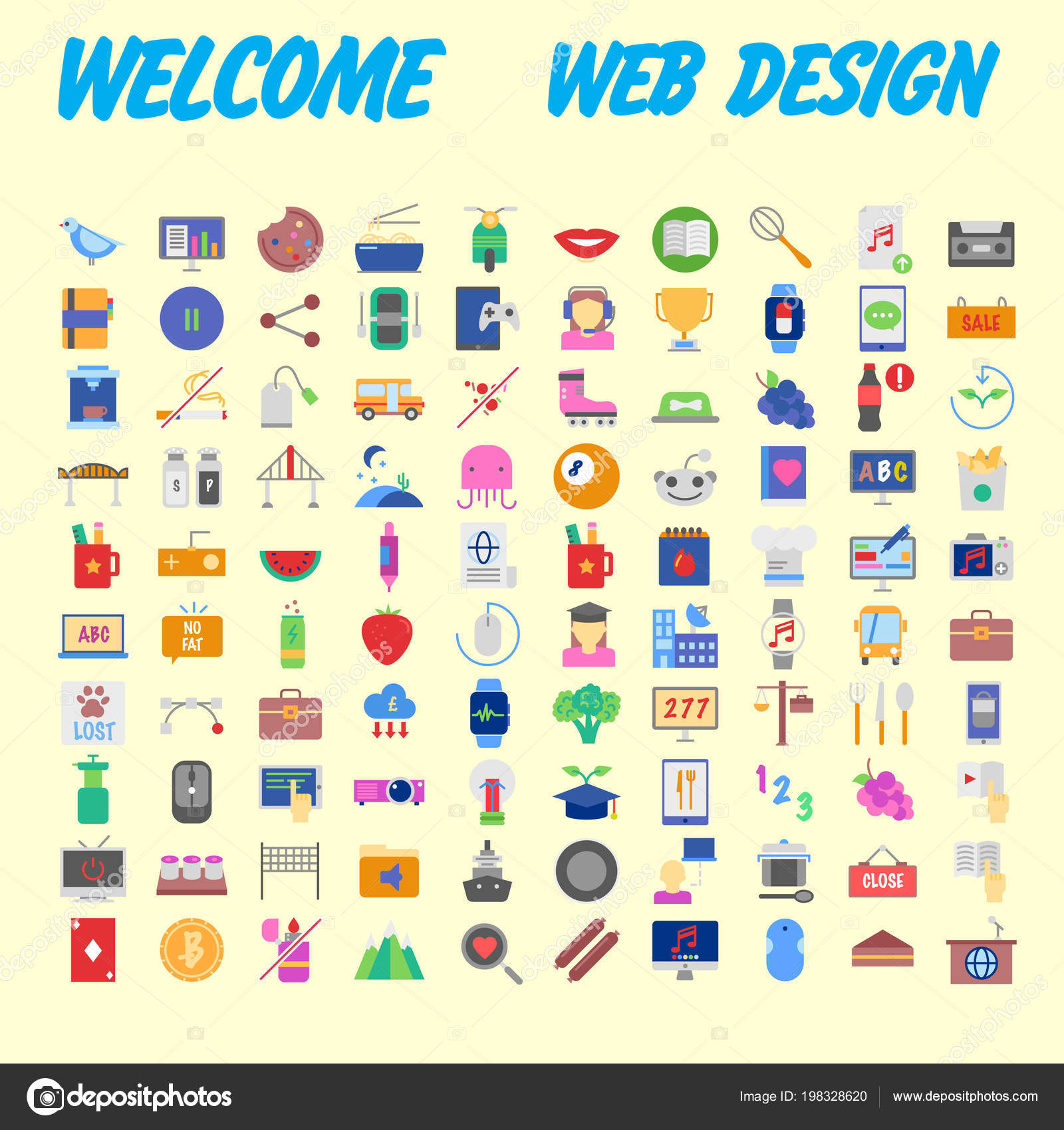 Simple Set Online Shopping Icons Design Contains Mobile Shop