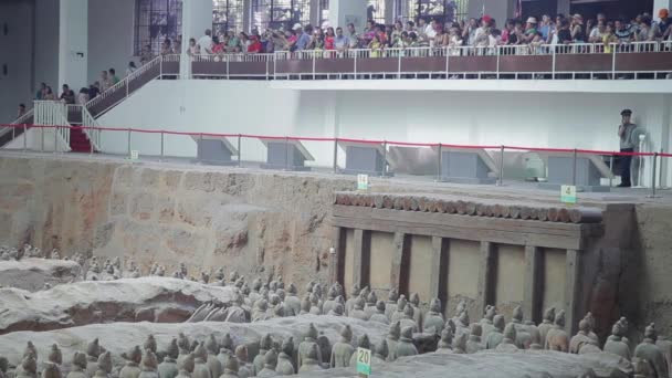 XIAN, CHINA - 17 Jul 2013:  terracotta army warriors and soldiers found outside Xian China