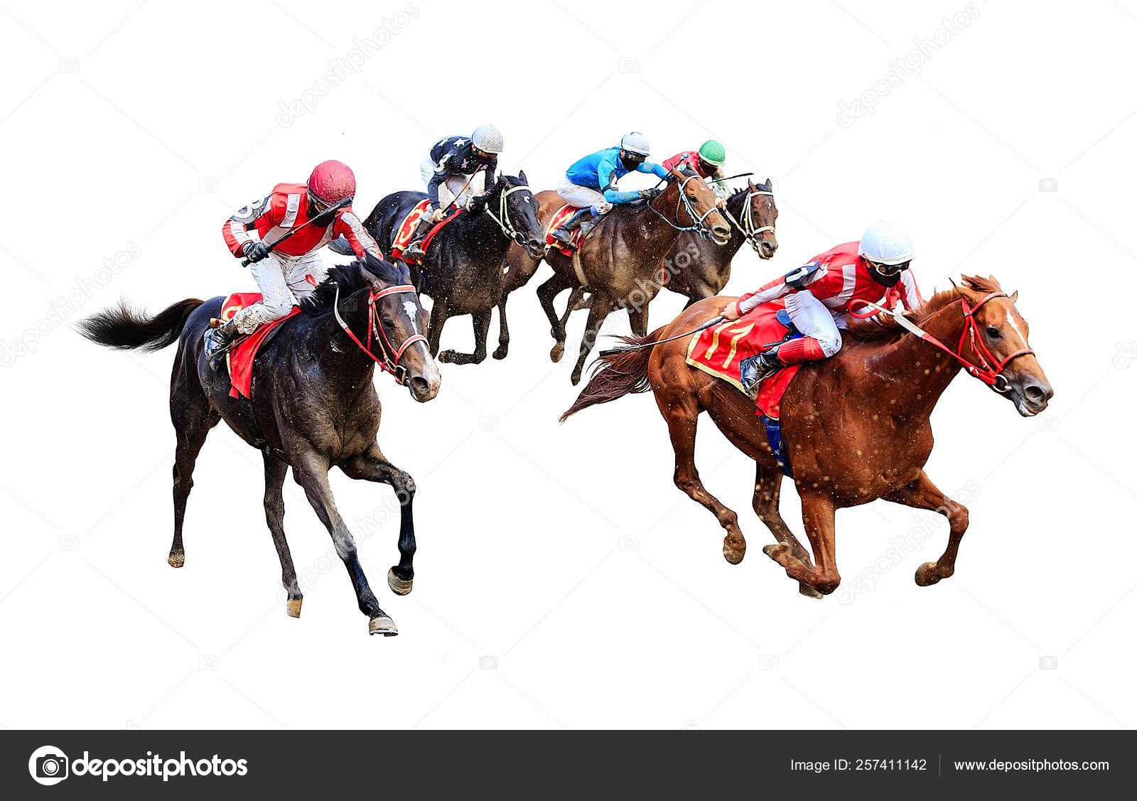 Jockey Horse Racing Horse Isolated White Background Stock Photo C Dikkenss 257411142