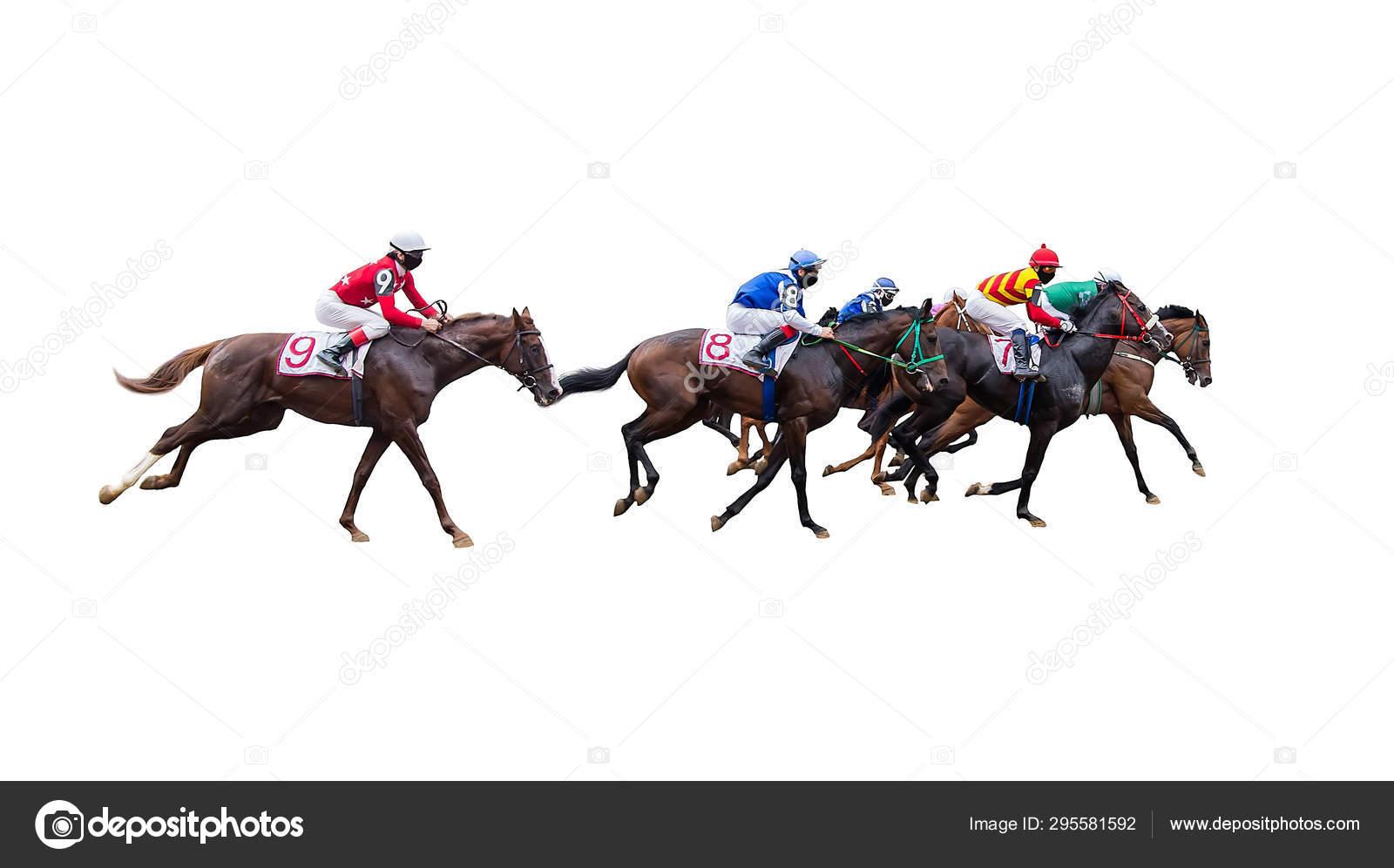 Horse Racing Jockey Isolated White Background Stock Photo C Dikkenss 295581592
