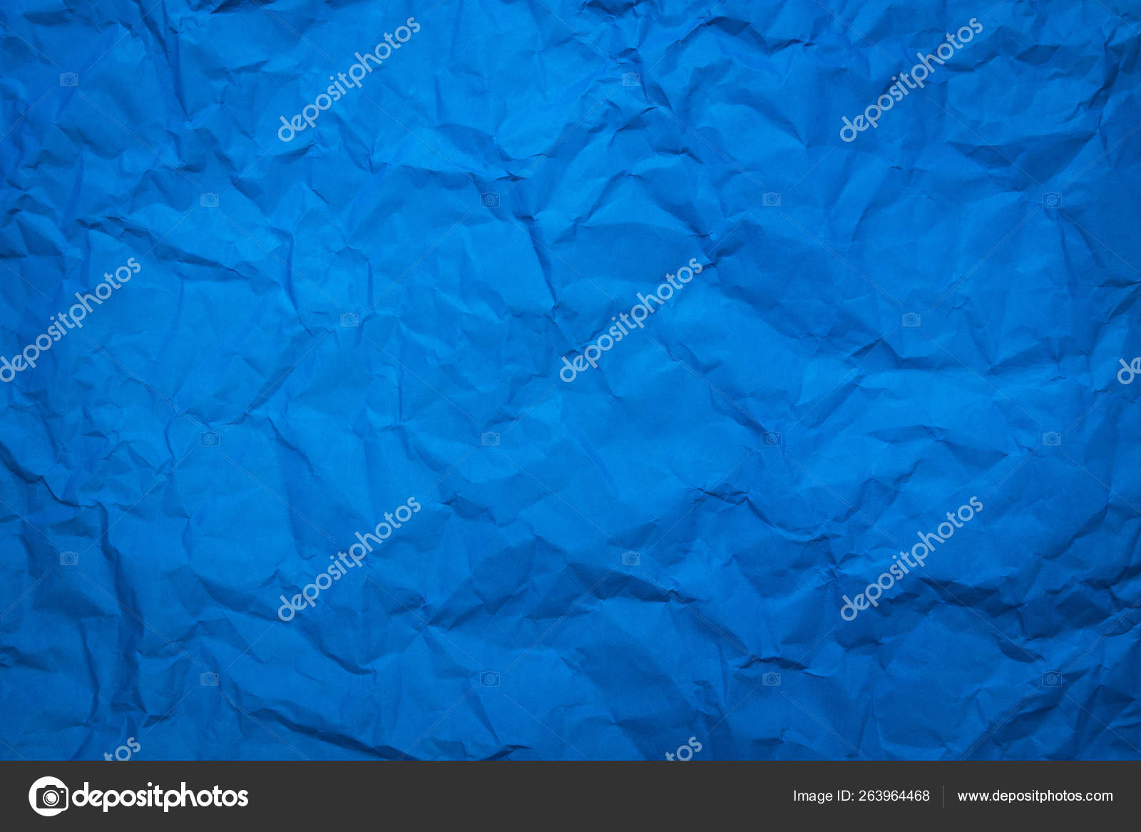 Crumpled Blue Paper Sheet Texture Background Abstract