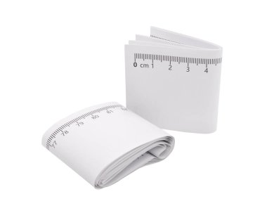 A paper ruler on isolated background with clipping path. Engineer drawing tools.
