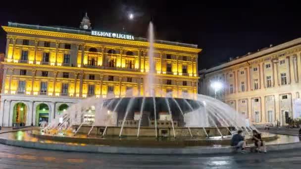 Janov kašna náměstí Piazza de Ferrari vody jet hranaté velké plaza Italská dovolená zajímavosti .