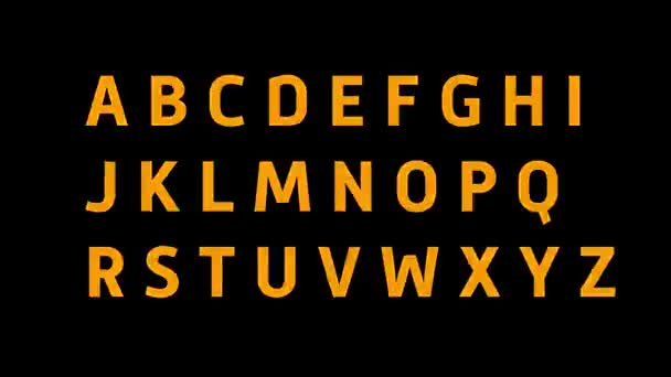 zářící abecedy. 2D zajímavá abeceda zachová jedinečné pocity z pohledu